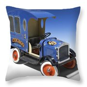 Police Peddle Car Throw Pillow