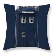 Police Phone Box Throw Pillow