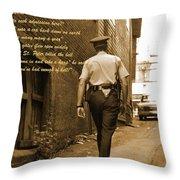 Police Poem Throw Pillow