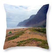 Polihale State Park Throw Pillow