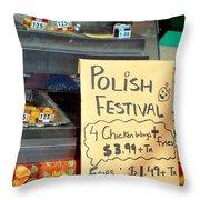 Polish Food Street Stand Throw Pillow
