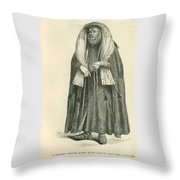 Polish Rabbi With Talith And Phylacteries Throw Pillow