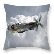 Polish Spitfire Ace Throw Pillow