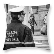 Polizia Roma Capitale Throw Pillow