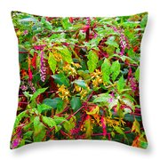 Polk And Goldenrod Throw Pillow