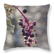 Polk Berries Throw Pillow