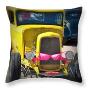 Polka Dot Bikini Throw Pillow