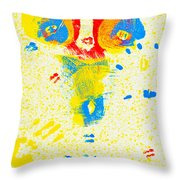 Polka Dot Bikini Throw Pillow