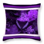 Polka Dot Butterfly Purple Throw Pillow