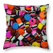 Polka Dot Colorful Candy Throw Pillow