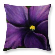Polka Dot Purple African Violet Throw Pillow