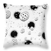 Polka Dots And Water Drops Throw Pillow