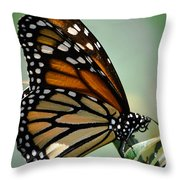 Polka Dots And Wings Throw Pillow