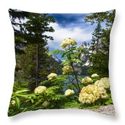 Pollen In The Peaks Throw Pillow