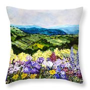 Pollinators Ravine Throw Pillow
