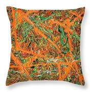 Pollock's Carrots Throw Pillow