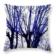 Vessels Of Blue Throw Pillow