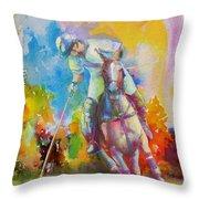 Polo Art Throw Pillow
