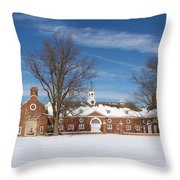 Polo Stables At Caumsett Throw Pillow