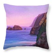 Pololu Valley Sunset Throw Pillow