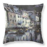 Polpero Cornwall England Throw Pillow