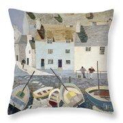 Polperro Throw Pillow by Eric Hains