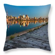 Polson Street Pier Throw Pillow