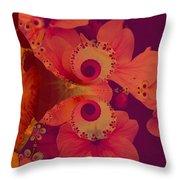 Polyanthus Spiral Throw Pillow by Nancy Pauling