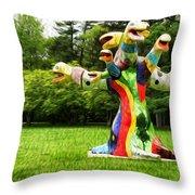 Polycephaly Dragon Throw Pillow