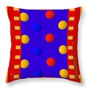 Polychromatic Throw Pillow