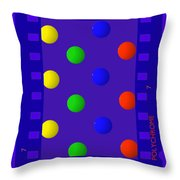 Polychrome Blue Throw Pillow