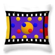 Polychrome Fun Throw Pillow