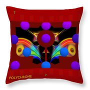 Polychrome Red Kimono Throw Pillow