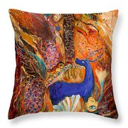 Polyptich Part Iv - Earth Throw Pillow