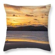 Polzeath Sunset 4 Throw Pillow