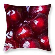 Pomegranate Closeup Throw Pillow