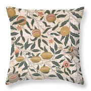 Pomegranate Design For Wallpaper Throw Pillow by William Morris