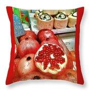 Pomegranates In Open Market Throw Pillow