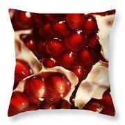 Pomegranate Seeds Throw Pillow