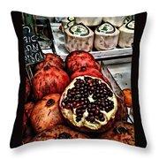Pomegranates In Open Market Art II Throw Pillow
