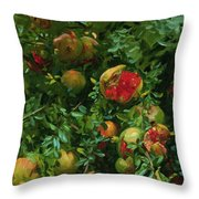 Pomegranates    Majorca Throw Pillow