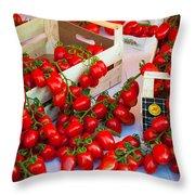 Pomodori Italiani Throw Pillow