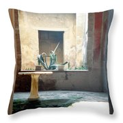 Pompeii Courtyard Throw Pillow