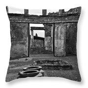 Pompeii Urns Throw Pillow by Marion Galt