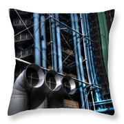 Pompidou Pipes Throw Pillow