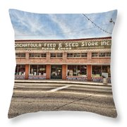 Ponchatoula Feed And Seed Throw Pillow