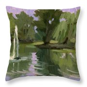 Pond At Fort Dent Tukwilla Throw Pillow