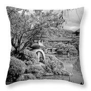 Pond At Heian Shrine - Kyoto Throw Pillow