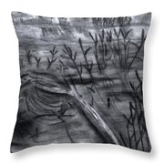 Pond Down The Road Throw Pillow