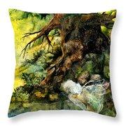 Pond Fairy Throw Pillow
